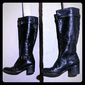 Coach butter soft leather black riding boots 8